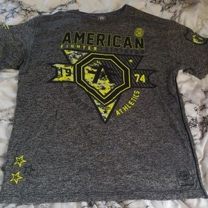 Mens buckle american fighter t shirt